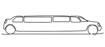 Abstract limousine one line drawing Stock Images