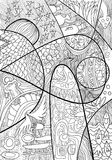Abstract Line art with doodle and zentagle style Stock Images