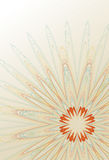 Abstract line art flower background Royalty Free Stock Image