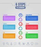 Six options or steps infographic. Business thin line icons. Template for your design works.