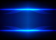 Abstract line blue light effect background Stock Photos