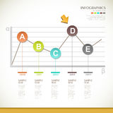 Abstract line chart infographics design Royalty Free Stock Photos