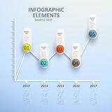 Abstract line chart infographics Royalty Free Stock Images