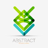 Abstract line composition icon, company logo,. Business symbol concept Royalty Free Stock Images