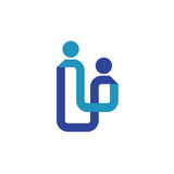 Abstract line Family logo concept Stock Photography