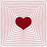 Abstract line heart love symbol white background Royalty Free Stock Photos