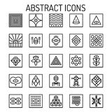 Abstract line Icons Royalty Free Stock Images