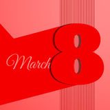 Abstract line 8 march banner  illustration eps 10 Royalty Free Stock Images