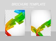 Abstract line motion brochure Stock Images