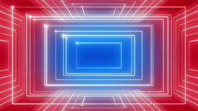 Abstract line motion music background rotation 360 LOOP red-blue stock footage