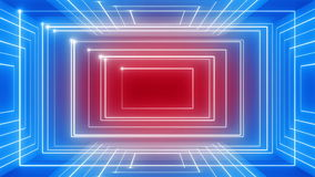 Abstract line motion music background rotation 360 LOOP red-blue stock video
