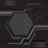 Abstract line and polygon modern technology dark background vect Stock Photography