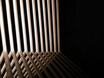 Abstract line of shadow light and mirror reflection Stock Image