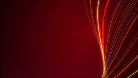 Abstract Line Twist and Red Dot Background Loop stock footage