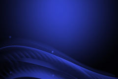 Abstract line and wavy blue background Stock Image