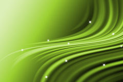Abstract line with wavy green background Royalty Free Stock Photography