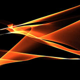 Abstract background of fire lines. Abstract linear background fiery illusion Stock Photography