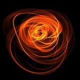 Abstract fiery nebula. Abstract linear background fiery illusion Stock Photo