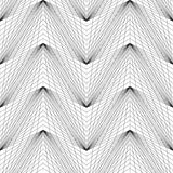Abstract linear geometric seamless pattern. Vector pattern - abstract linear shape imitating volume Stock Illustration