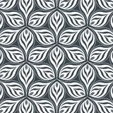 Abstract linear petal flower. Vector pattern. Pattern is on swatches panel vector illustration