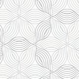 Abstract linear petal flower. Vector pattern. Pattern is on swatches panel Stock Images