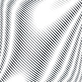 Abstract lined background, optical illusion style. Chaotic lines Stock Photography