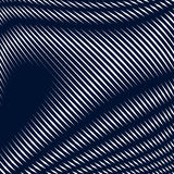 Abstract lined background, optical illusion style. Chaotic lines. Creating geometric pattern with visual effects stock illustration