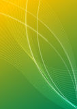 Abstract lines. Abstract yellow and green illustration with some white lines Stock Photography