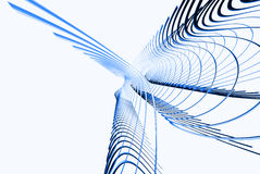 Abstract lines. 3d abstract lines in blue color Royalty Free Stock Photos