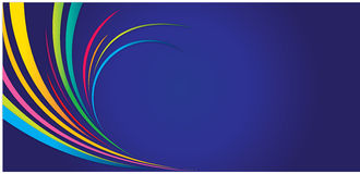 Abstract lines. A multicolor abstract lines on the dark blue background stock illustration