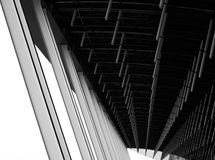 Abstract Lines of Airport Terminal Architecture Stock Images