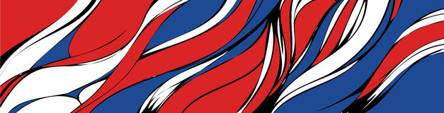 Abstract lines background. Red and blue vector illustration