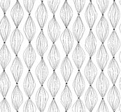 Abstract lines background.Geometric dot lined seamless pattern. Royalty Free Stock Photo