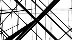 Abstract lines background, lattice on a white background stock video