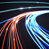 Abstract lines background, motion design vector illustration Royalty Free Stock Photography