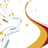 Abstract lines background with music notes Stock Photos