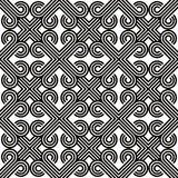 Abstract lines black and white seamless pattern, vector backgrou Royalty Free Stock Photo
