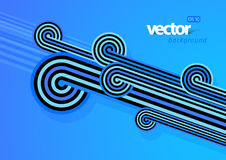 Abstract lines with blue background. Royalty Free Stock Image
