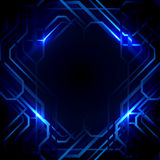 Abstract lines and blue lights background. Technology concept design Royalty Free Illustration