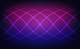 Abstract lines blue and magenta lights background. Vector illustration Royalty Free Stock Photography