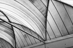 Abstract of lines on a ceiling Royalty Free Stock Photos