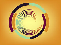Abstract lines with circles. Vector. Eps 8 royalty free illustration