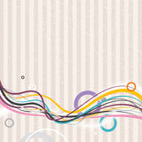 Abstract lines with circles. Vector Stock Photos