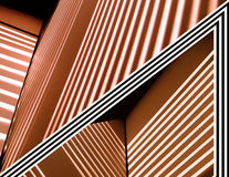 Abstract Lines Copper. Copper, white and black abstract lines and angles Royalty Free Stock Photography