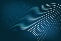 Abstract lines on a dark blue background. Smooth gradient background, blue abstract background Stock Image