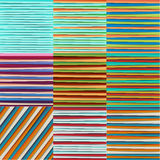 Abstract Lines Design On Color Background, Vector Illustration Stock Photo