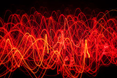 Abstract lines of fire forming various shapes Stock Photos