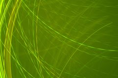 Abstract Lines Green Background Stock Image