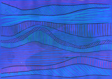 Abstract lines. Grunge style. Hand drawn. Mixed media artwork Royalty Free Stock Photography