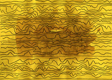 Abstract lines. Grunge style. Hand drawn. Mixed media artwork Royalty Free Stock Photos